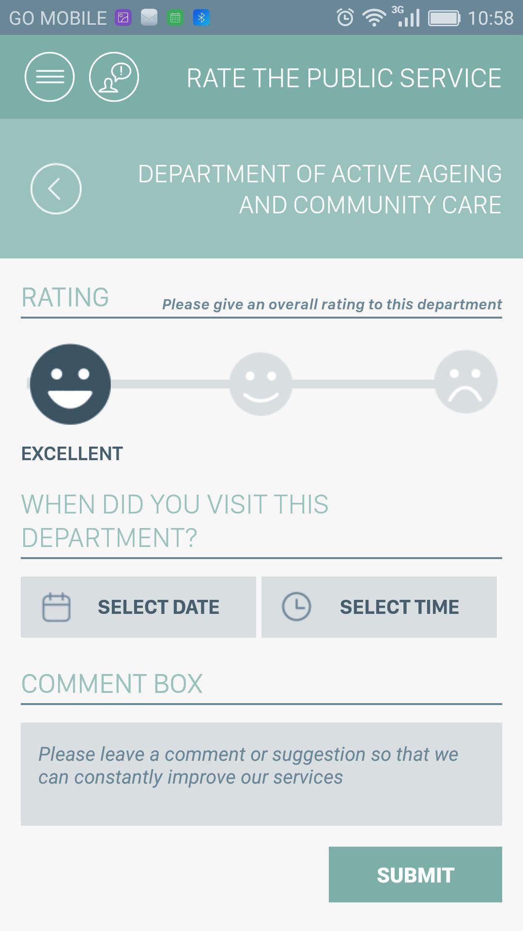 Rating Screen Screenshot